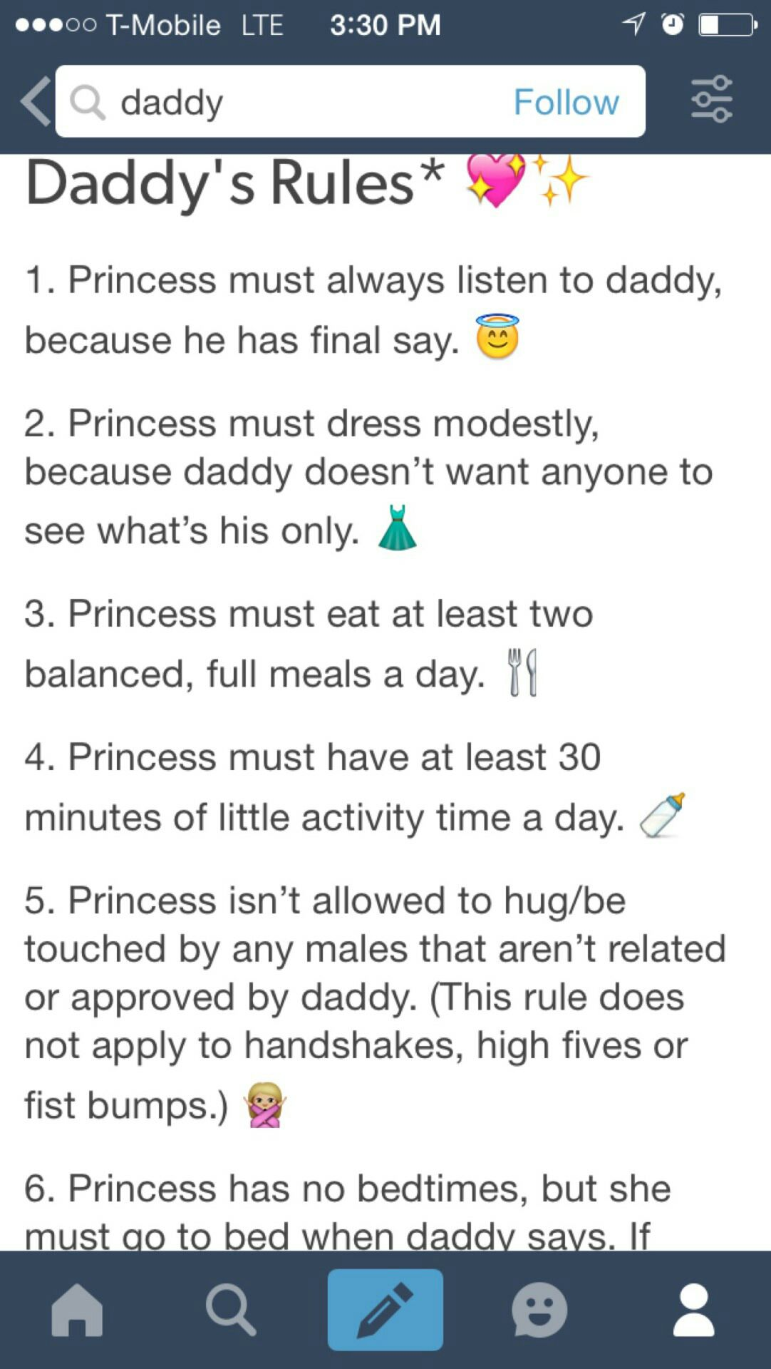 Regeln ddlg DADDY'S RULES