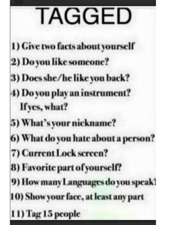 tagged by Charlie_Ken infanterrible MahekFatima28 lovely people