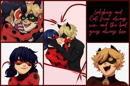 "#LadynoirLadybug and Chat noir""Ladybug and Chat noir always win, and the bad guys always lose"