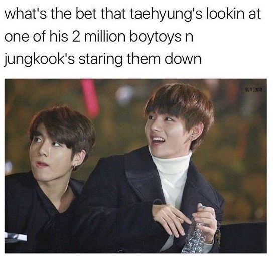 Jealous Jungkook Saga(Because ppl think the scenarios below are real, I'm here to say it is NOT real; they're just funny memes/what-if situations to what ppl think jealous Jungkook reaction would be)