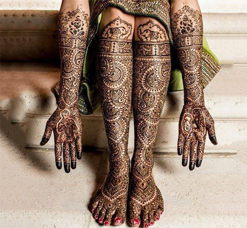 And the Mehendi looks like this for the bride: