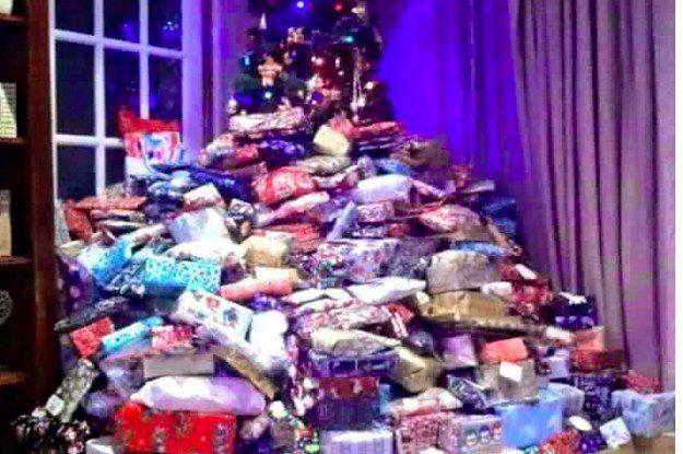 Presents were literally everywhere