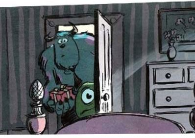 After getting trapped in the human world, Mike and Sulley split up after disagreeing on what to do