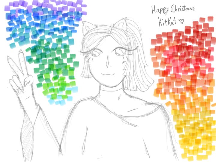 HEY KITKAT HAPPY CHRISTMAS ILY