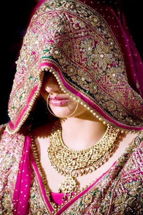 I couldn't find any better picture than this but in some culture, they pull the veil more down and every part of the face is completely covered from every angle