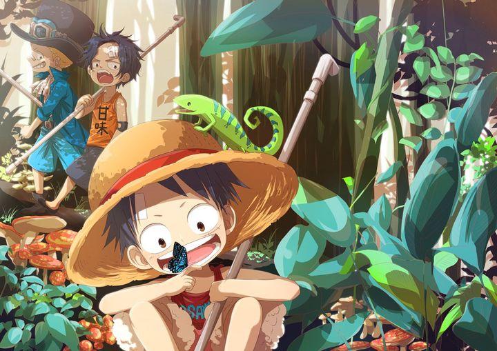 صور One Piece ايس لوفي سابو Wattpad