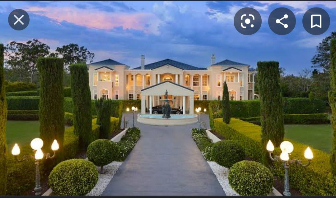 Outside look of mansion: