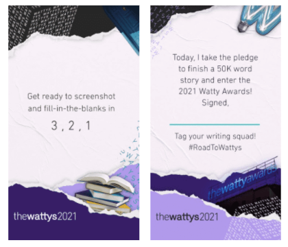And check out @wattpad's Instagram Story for even more ways to share your pledge on social media!