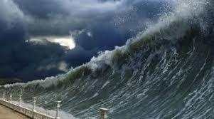 Minutos después, en el mar de china meridional, ocurre un terremoto de 8