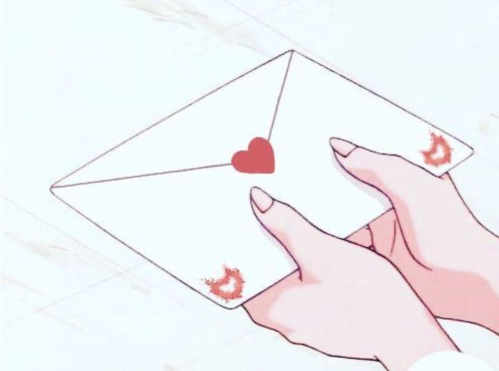 When I opened the box, I found a white envelope with a red heart in the centre, it also had two flame-heart type designs in the bottom corners