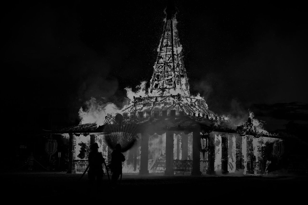 But the dance sound didn't stop and the temple was completely burnt and everyone inside the temple dies