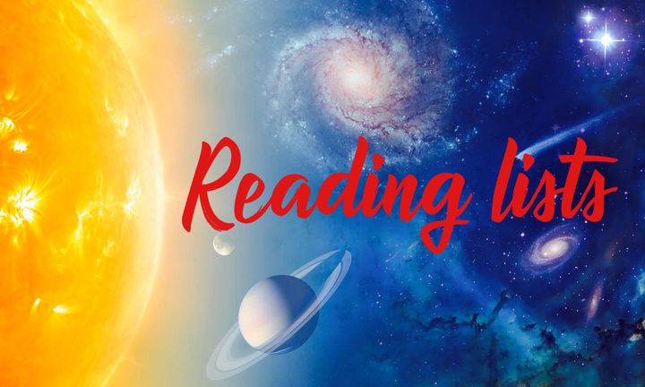 So you have dared to take a journey beyond the milky way? Here you will find a series of reading lists to take your minds on a journey between space and time