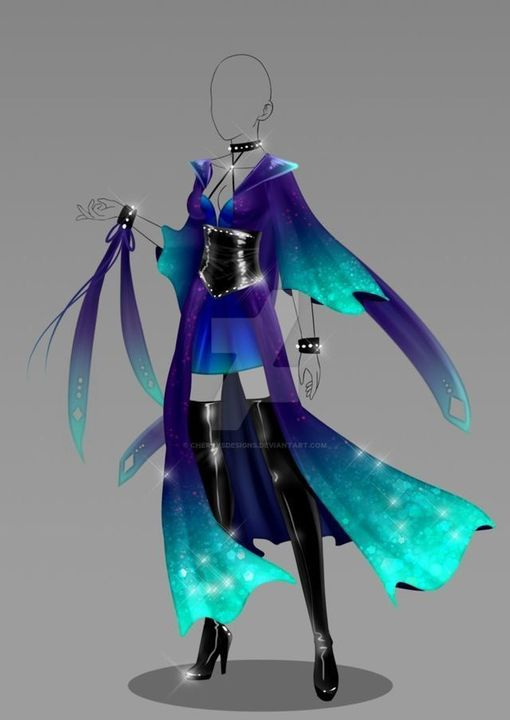 You love this outfit because it has beautiful gradients on it