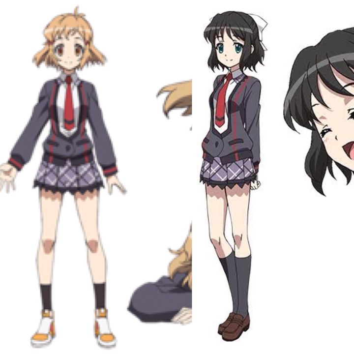 You turn to see Hibiki and Miku in their school uniform