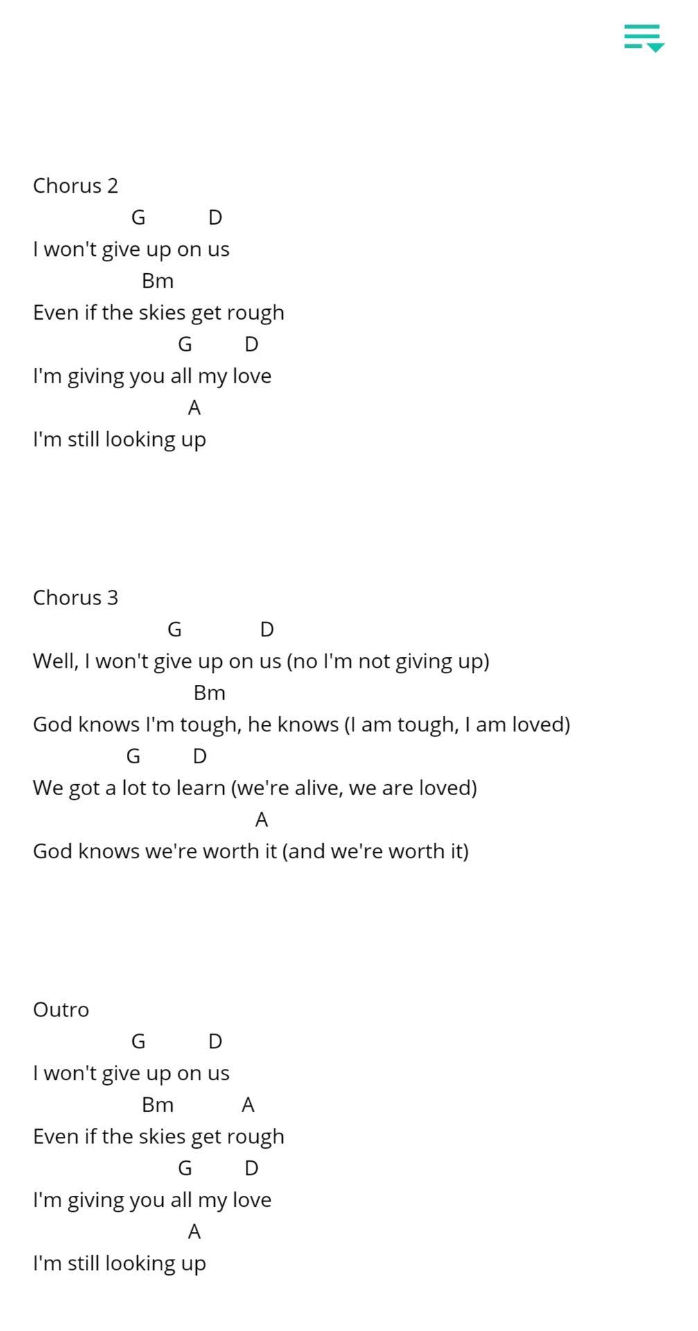 UKE POP Ukelele Chords & Lyrics   I Won't Give Up   Wattpad