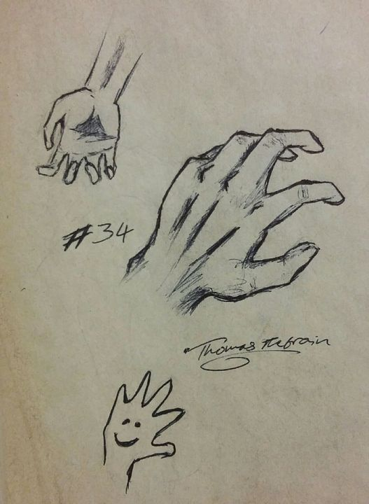I tried drawing hands
