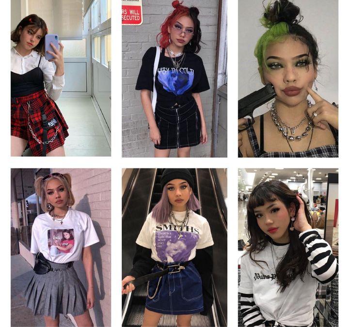 Retro/Soft girl Egirl look: