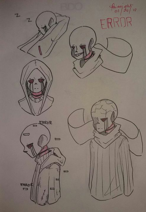I've been reading Error!Sans stories by harrish6, and I kinda doodle some of them