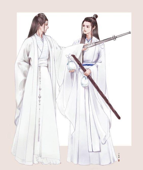 WangJi olhou para as mãos unidas e inspirou suavemente quando ergueu o olhar para Wei Ying havia um sorriso nos lábios da jade