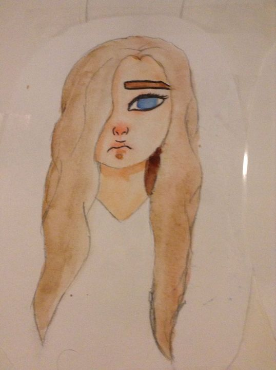 I got some new watercolours for Christmas so I decided to finally try skin tones