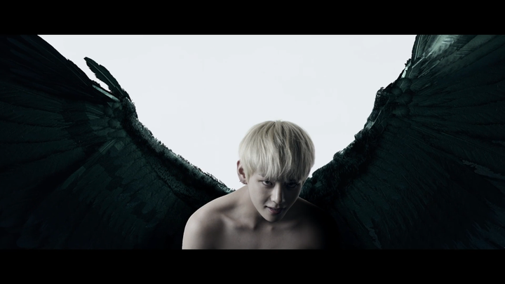 U ARE STILL FREAKING HALF NAKED KIM TAEHYUNG KEEP IT PG PLEASE OMG I CANT GET OVER THIS OMGOMGOGMOGMGKGMOFMGKFMGKFMGOFMGKMG HIS WINGS LOOKS SO GREAT FEATHERY AND SMOOTH