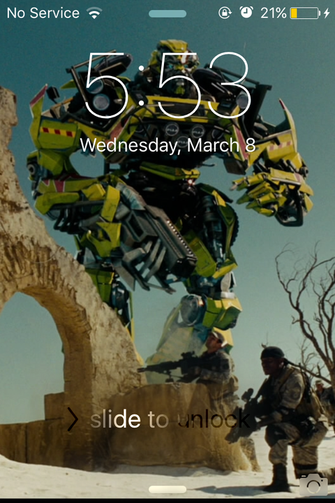 Now I have to show you my screen saver