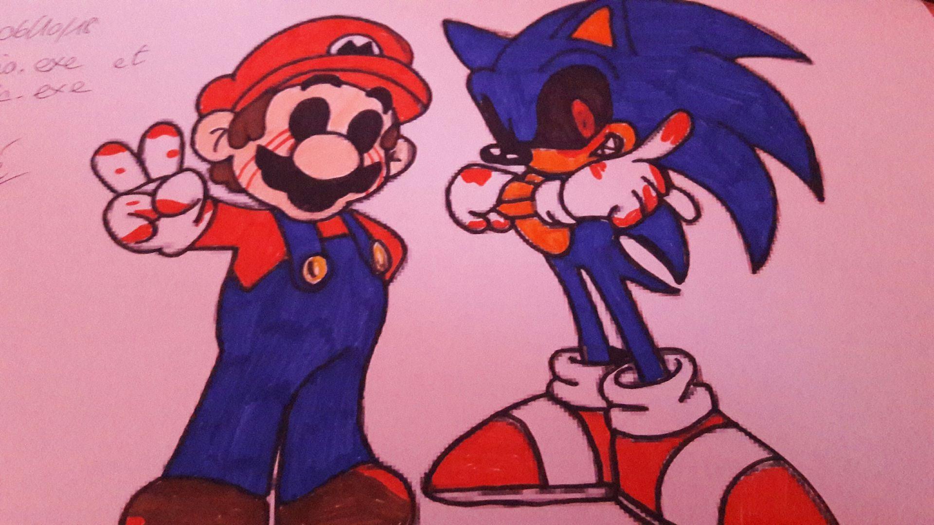 L Artbook D Une Folle De L Espace Mario Exe Et Sonic Exe Coloriage Wattpad