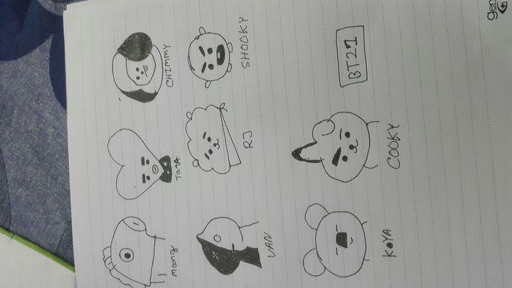Bt21 Bts Characters