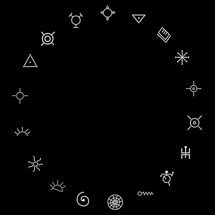 Fraqueza 💙:Símbolos anasazi: desenho esses símbolos em um círculos de proteção para mantê-los longe