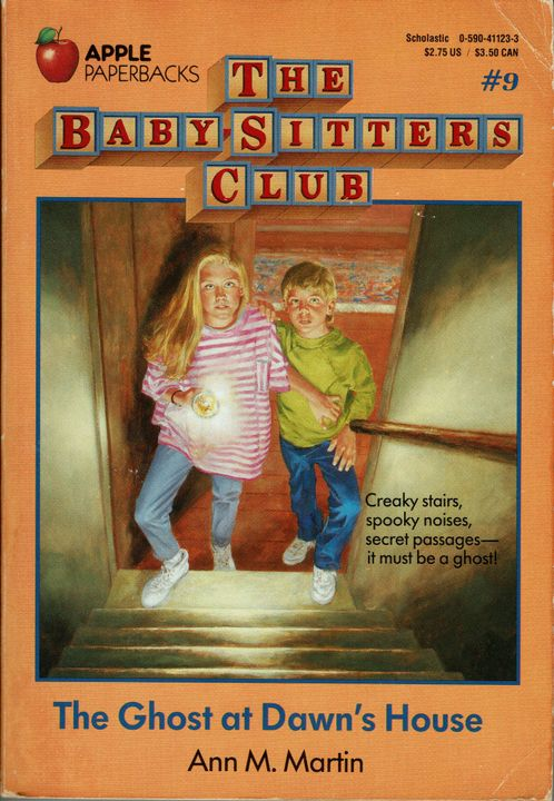 My copy of The Baby-Sitters Club #9: The Ghost at Dawn's House – Ghosts are very safety conscious, we all know they require handrails in order to haunt a place