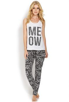 I decided to not change my clothes and stay in my PJs This is my outfit: