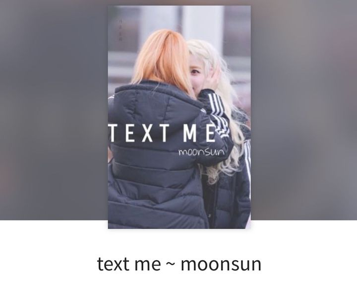 Text me -Moonsun