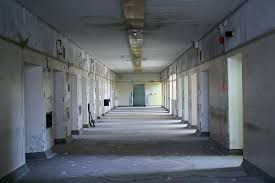 """"""" A voice says and it's the guy that I kicked, we follow him and he takes us to a building that looks like something from an insane asylum"""