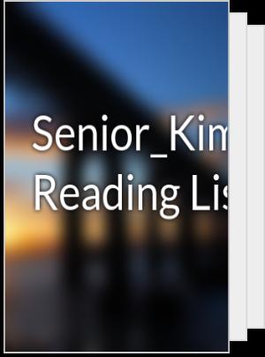 Senior_Kim's Reading List