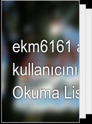 ekm6161 adlı kullanıcının Okuma Listesi
