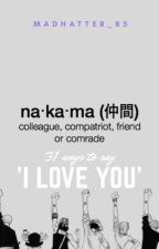 31 ways to say I Love You (one piece) by madhatter_85