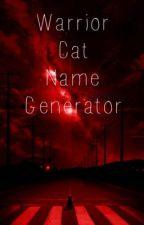Warrior Cat Name Generator by mystinari