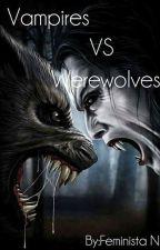 Vampires VS Werewolves by FeministaN