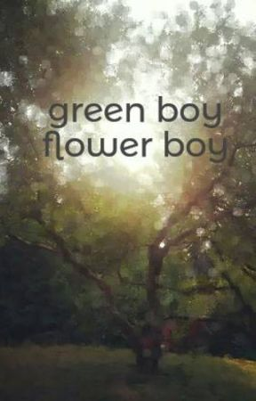 green boy flower boy by witchlightsands
