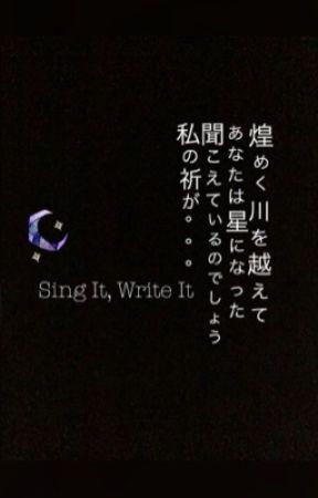 Sing It, Write It! by DreamRaid