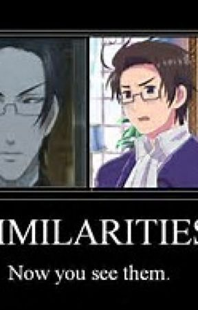 Anime similarities by Kawaiisebby