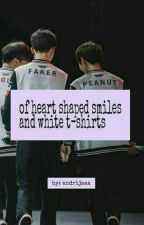 of heart shaped smiles and white t-shirts [ Faker x Peanut ] by andrijaaa