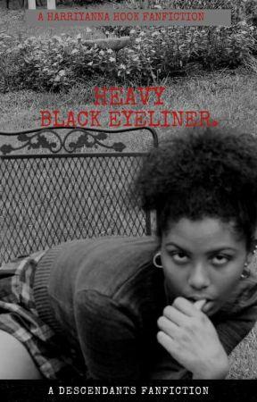 heavy black eyeliner. {harry hook} by harriyanna