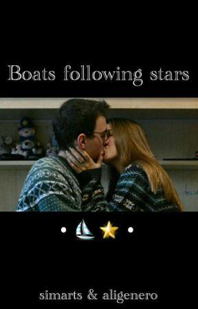 Boats following stars by aligenero