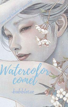 watercolor comet by -bubbIetae