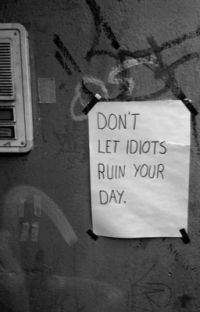 don't let idiots ruin your day cover