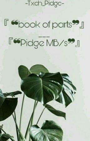 『❝ʙᴏᴏᴋ ᴏғ ᴘᴀʀᴛs❞』// 『•ᴘɪᴅɢᴇ ᴍʙ/s•』  by -Txch_Pidge-
