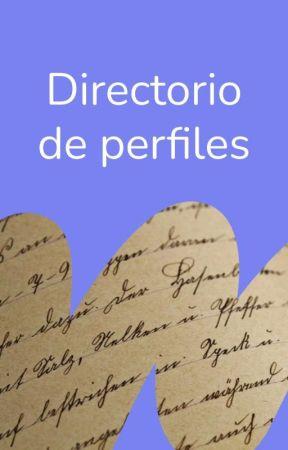Directorio de perfiles by WattpadLGBTQ-ES