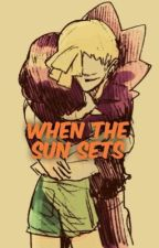 When The Sun Sets (Moon X Gladion) by StarfishOverlord