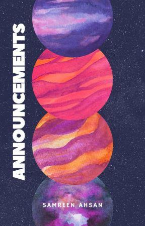ANNOUNCEMENTS by SamreenAhsan
